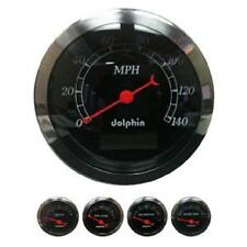 DOLPHIN BLACK 5 GAUGE ELECTRONIC SPEEDOMETER KIT HOTROD/STREETROD/FORD/CHEVY