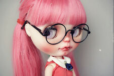 "Black Glasses Round For 12"" Neo Blythe Doll G&D"