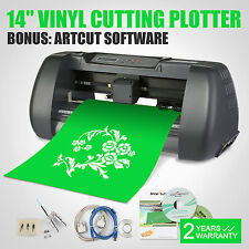 "New 14"" Vinyl Cutting Plotter Printer Desktop Cutter Artcut Machine Software DIY"