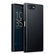 Original Sony Xperia X Compact Case Slim Protective TPU Gel Tech Black Matte