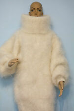NEW Mohair Sweater Longhair 100% Goat Down soft VERY WARM Turtleneck Pullover
