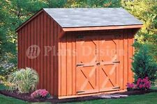 6' x 8' Playhouse Or Garden Storage Shed Plans, Material List Included  #70608