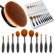 10Pcs Professional Oval Cream Makeup Brush Set Kabuki Toothbrush Foundation Tool