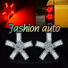 2X 40 SMD 3157/3528 RED LED SPIDER 5-ARM TURN/TAIL/BRAKE/STOP LIGHT BULBS