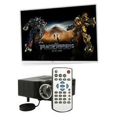 HD 1080P LED Multimedia Projector Home Theater Cinema AV TV VGA HDMI USB SD