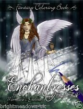 Enchantress Fairy Faries Adult Colouring Book Fantasy Mystical Goddess Magical