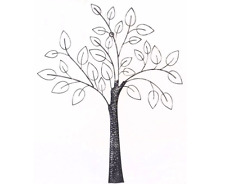 Contemporary Hanging Metal Tree Wall Art Sculpture Modern Home Chic Decoration