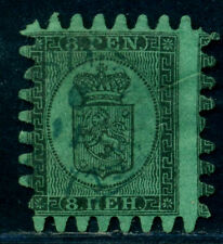 1866/1867 Finland,Finnland,  Coat of Arms,Lion,Crown,8 P.,Mi.6 Cx,CV=$300,VFU