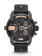 DIESEL DZ-7291,Little Daddy,Full Black Strap,Chronograph Dual Time Watch for Men