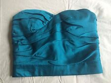 Marc by Marc Jacobs Blue Silk Striped Strapless Pleated Bustier Crop Top Shirt 4