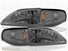 94-98 FORD MUSTANG HEADLIGHTS CORNER LIGHTS SMOKE 97 96