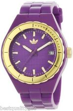 NEW ADIDAS PURPLE PLUM GOLD SMALL CAMBRIDGE WATCH-ADH2084