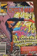 MARVEL COMICS WEB OF SPIDER-MAN # 6 SEPT 1985 SECRET WARS 2, BEYONDER, GOLD RUSH