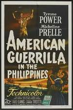 AMERICAN GUERRILLA IN THE PHILIPPINES Movie POSTER 27x40 Tyrone Power Micheline