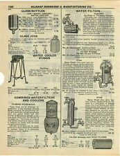 1932 PAPER AD Flemish Design Stoneware Water Filter Cooler 2 21/2 4 1/2 Gallon