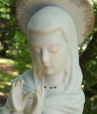 vintage Madonna Jesus' Mother Mary porcelain figure dish planter  #BR175 NAPCO