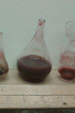 2 bottiglie vetro minuterie pastori presepe miniature crib Shepherd glass