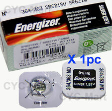 Energizer 364 SR621SW Silver Oxide Battery x 1 pc, Made in USA FREE POST WW