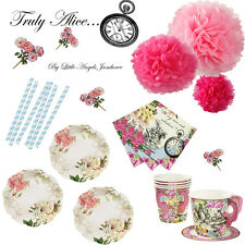 Verdaderamente Alice/Blossom & Cuero Calado De Fiesta Kit Sombrerero Loco Tea Party Wedding Vintage Gallina