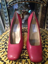 VERSUS BY GIANNY VERSACE CARMINE RED SHOES SIZE 39  MADE IN ITALY