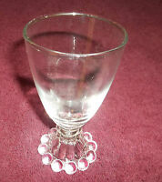 """Vintage Anchor Hocking Boopie Bubble Bottom Glasses 4-1/2"""" TALL"""