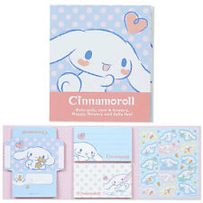 Sanrio Cinnamoroll Mini Letter Memo Set with Stickers Free Registered Shipping