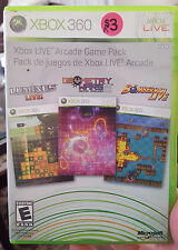 Xbox Live Arcade Game Pack: Lumines, Geometry Wars 2, Bomberman Live - 360