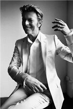 DAVID BOWIE IN A WHITE SUIT - quality glossy A4 print
