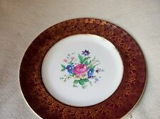 ELEGANT HIGHLY GILDED VINTAGE PLATE MIDWINTER FLORAL BOUQUET CENTRE 10""