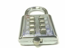 New 4 Digit Push-Button Combination Padlock Travel Luggage Number Code Lock