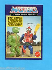 TOP985-PUBBLICITA'/ADVERTISING-1985- MATTEL MASTERS - KOBRA KHAN+MEKANECK