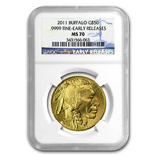 2011 1 oz Gold Buffalo Coin - MS-70 Early Releases NGC