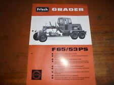 Prospekt Sales Brochure Frisch Grader F 65  Klöckner Baumaschinen  автомобиль