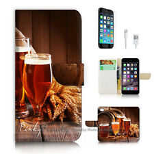 iPhone 7 (4.7') Flip Wallet Case Cover P2864 Beer