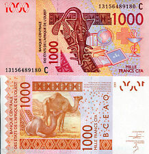 BURKINA FASO 1000 Francs Banknote World Money aUN Currency BILL 2013 Note Africa