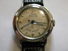 Vintage SERVICED Mido super automatic Men's watch Steel WW2 eravmid size