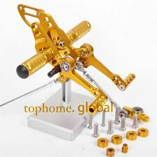 CNC adjusting Rearset Footpegs Rear set For Ducati Streetfighter 848/1100 Gold