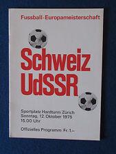 European Championship Qualifier Programme - 12/10/75 - Switzerland v Russia