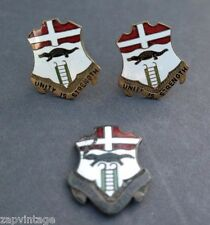 Vtg Unity Is Strength 6 Infantry Military Men's CUFFLINKS (Excellent 23 of 100)