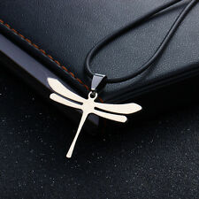 Unique Design Stainless Steel Dragonfly Charm Pendant Necklace Men's Jewelry