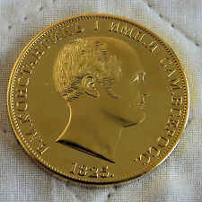 RUSSIA 1825 NICHOLAS I GOLD COATED PROOF PATTERN ROUBLE