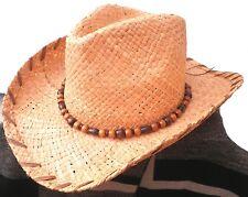 Cappello di paglia Cappello da cowboy Cappello western UNISEX Paglia naturale
