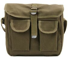 OD Green Military Style Ammo Bag 2 Pocket Messenger Bag Shoulder Bag Rothco 2277