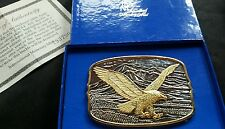 AMERICAN EAGLE BELT BUCKLE FROM INTERNATIONAL MONETARY MINT IN BOX WITH COA
