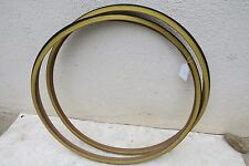 """27"""" X 1"""" DURO TIRES ROAD BLACK GUM WALL TAN SIDE FIXIE TOURING BICYCLE NEW"""