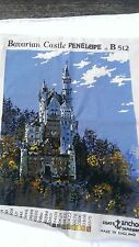 Large Completed Needlepoint Bavarian Castle Penelope B512 Blue Skies Tree Forest