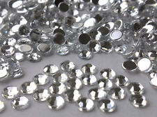 500 x 5mm GRADE A Stick on Flat Back CLEAR DIAMANTE  Crystal Gems Rhinestones