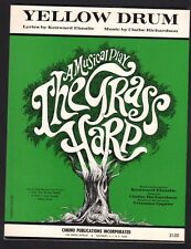 Yellow Drum 1966 The Grass Harp Based on the novel by Truman Capote Sheet Music