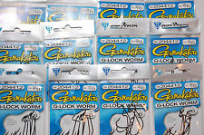 72 total gamakatsu size 2/0 g-lock worm hooks 204412 great value 12 packs