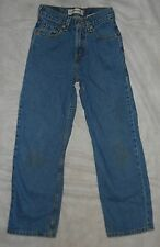 """LEVI'S RELAXED FIT SLIM 550 JEANS """"KID'S 12SLIM"""" BEG. DISTRESS, COOL LEVI'S!"""